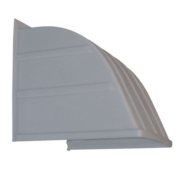 18 inch Rugged Plastic Weather Hood Gray HFP-18G, [product-type] - Industrial Fans Direct