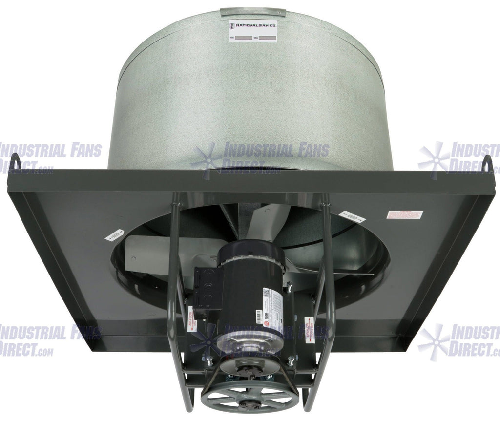 AirFlo-NV8 Explosion Proof Upblast Roof Exhaust Fan 42 inch 17420 CFM Belt Drive 3 Phase NV842-F-3-E