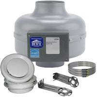 AXC Bathroom Kit Centrifugal Duct Fan w/ Adjustable Grill 6 inch 235 CFM Energy Star RG150A-ES