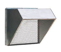 "30"" Galvanized Weather Hood w/ Birdscreen RH30, [product-type] - Industrial Fans Direct"
