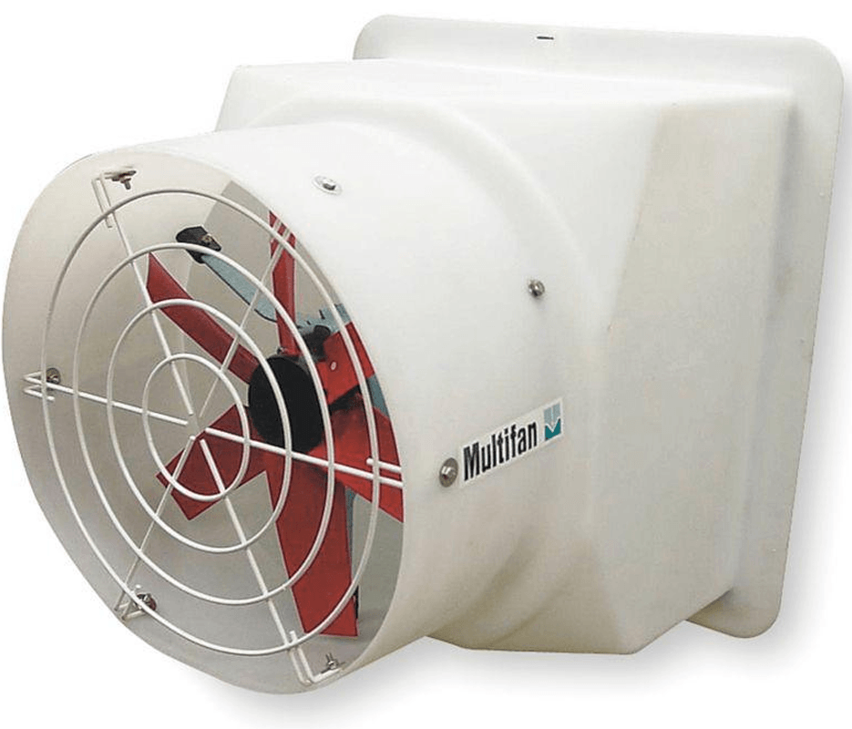 System 4 Shutter Panel Fan w/ Housing & Wireguard 16 inch 2640 CFM Variable Speed S4164E2