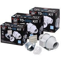 Mixvent Standard Exhaust Kit with 4 inch Exhaust Fan (135 CFM) KIT-TD100x, [product-type] - Industrial Fans Direct