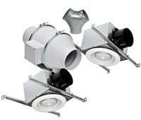 Deluxe Lighted Exhaust Fan Kit w/ 2 Fluorescent Grilles 6 inch 293 CFM KIT-TD150F, [product-type] - Industrial Fans Direct