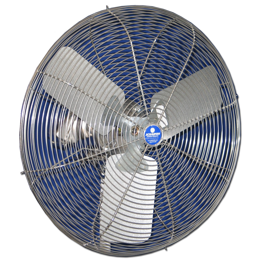 Washdown Duty Circulator Fan Stainless Guard, Motor & Blade 24 inch 5670 CFM 24CFO-SWDS, [product-type] - Industrial Fans Direct