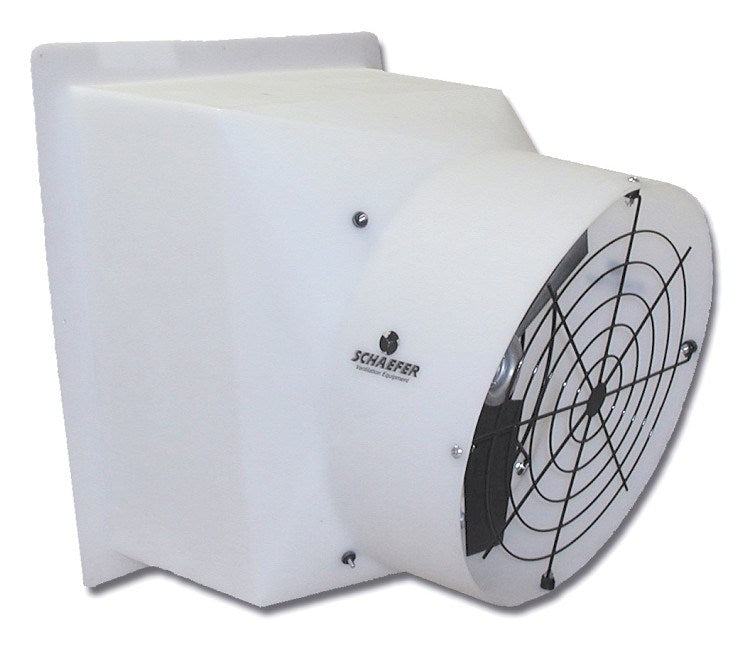 Poly Exhaust Fan w/ Poly Shutters 12 inch 1604 CFM Direct Drive PFM1200-1, [product-type] - Industrial Fans Direct