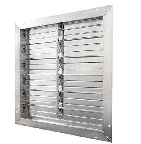 J & D Manufacturing 48 inch Aluminum Intake Power Shutter (multi-pack discount) VRSG48A-PS