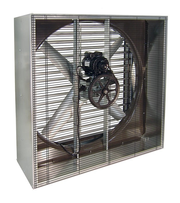 48 Direct Drive Exhaust Fans : Vik cabinet exhaust fan w shutters inch cfm belt