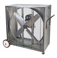 PVI Heat Buster Portable Boxed Blower Fan 48 inch 21500 CFM Belt Drive PVI4816