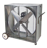 PVI Portable Box Blower Fan 1 Speed 42 inch 13000 CFM Belt Drive PVI4213W, [product-type] - Industrial Fans Direct
