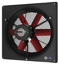 High Performance Panel Exhaust Fan w/ Intake Grill 10 inch 1250 CFM 240V Direct Drive V2E25K1M72100