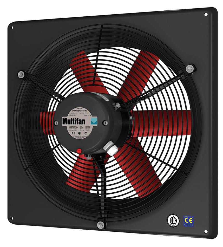 high performance panel exhaust fan w/ intake grill 12 inch 2130 cfm