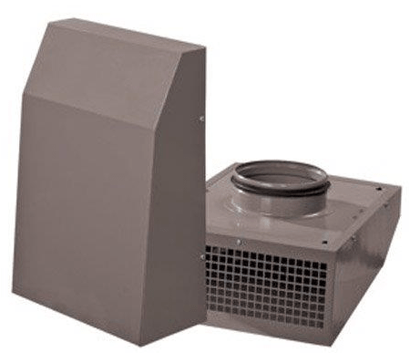VCN Outside Wall Mount Exhaust Fan for 6 inch Duct 302 CFM VCN 150