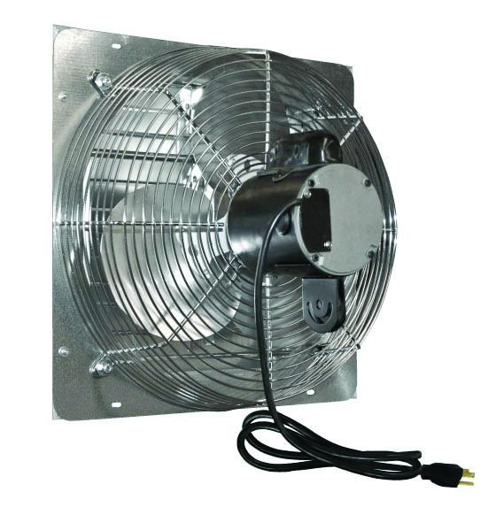 Ves Variable Speed Shutter Exhaust Fan W Cord 24 Inch