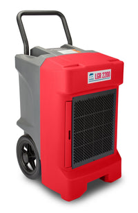 B-Air Red Vantage Large Portable Commercial Dehumidifier 225-Pint 400 CFM VG-LGR-2200-RED