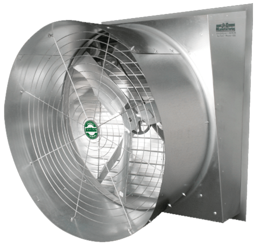 Typhoon Slant Wall Exhaust Fan w/ Cone 24 inch 5180 CFM Direct Drive VFS24CS