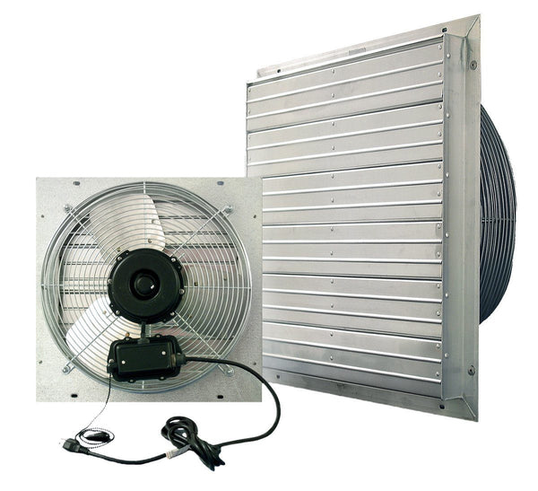 Vpes Outdoor Rated Shutter Exhaust Fan W Cord 24 Inch