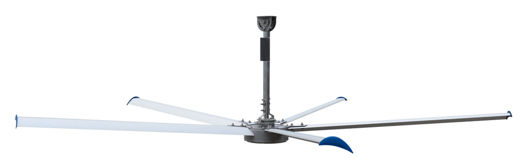 Patterson V-Series HVLS Ceiling Fan 24 foot 23732 Sq Ft Coverage w/ VFD Control 460V 3 Phase V24B-460