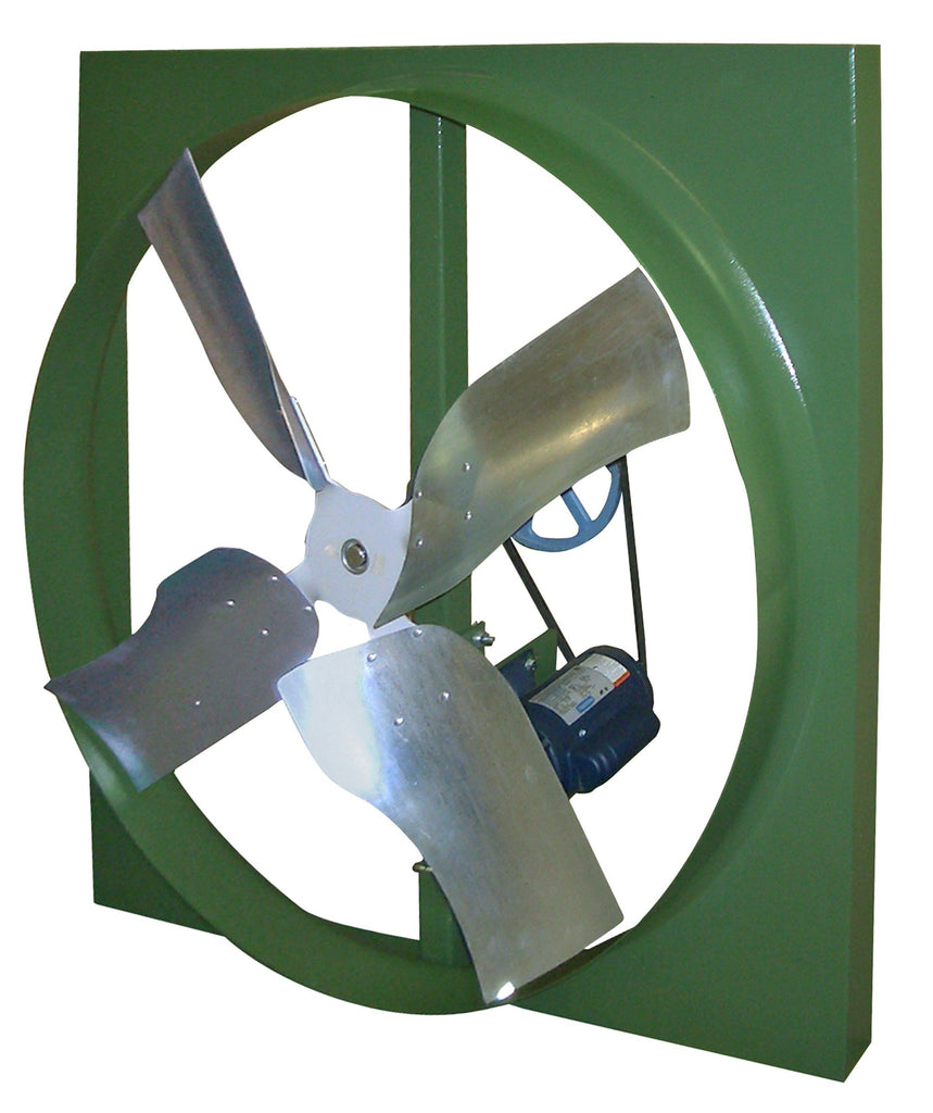 XBL Wall Mount Panel Type Exhaust Fan 24 inch 1 Speed 3270 CFM Belt Drive XBL24T10033