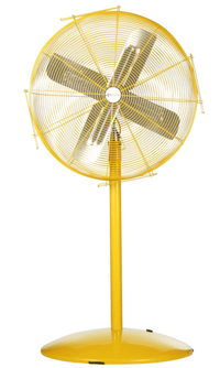 Airmaster Fan 24 inch Heavy Duty Safety Yellow Pedestal Mounted Fan 2 Speed w/ Pull Chain 10501K