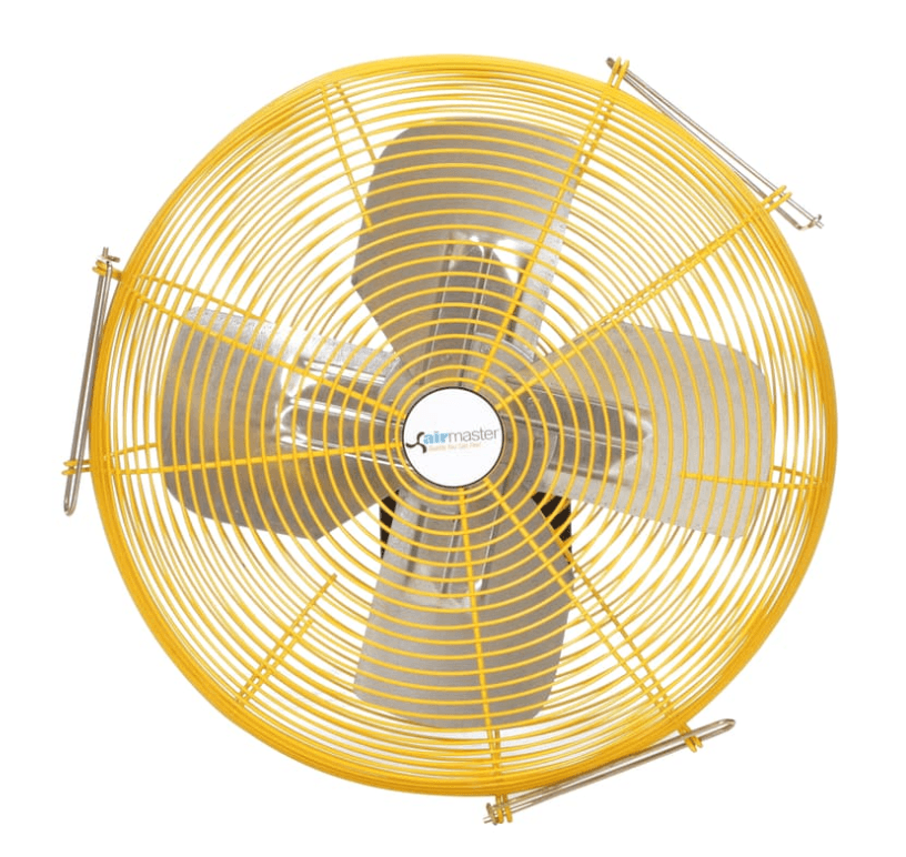 Heavy Duty Safety Yellow Wall Mounted Fan 24 inch 5280 CFM 2 Speed w/ Pull Chain 10401K