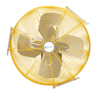 Airmaster Fan 24 inch Heavy Duty Safety Yellow Wall Mounted Fan 2 Speed w/ Pull Chain 10401K