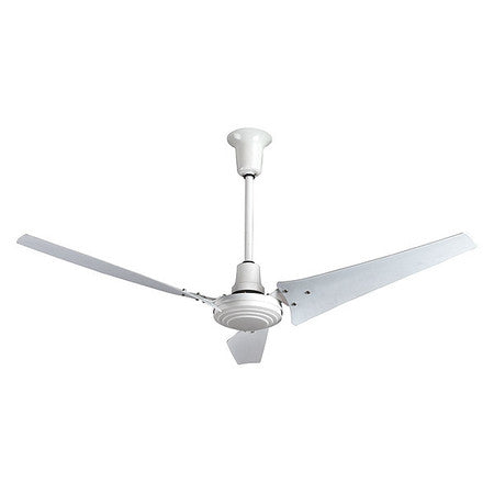 Industrial 60 inch White Outdoor Rated Ceiling Fan w/ 3 Speed Control INDC60ODP