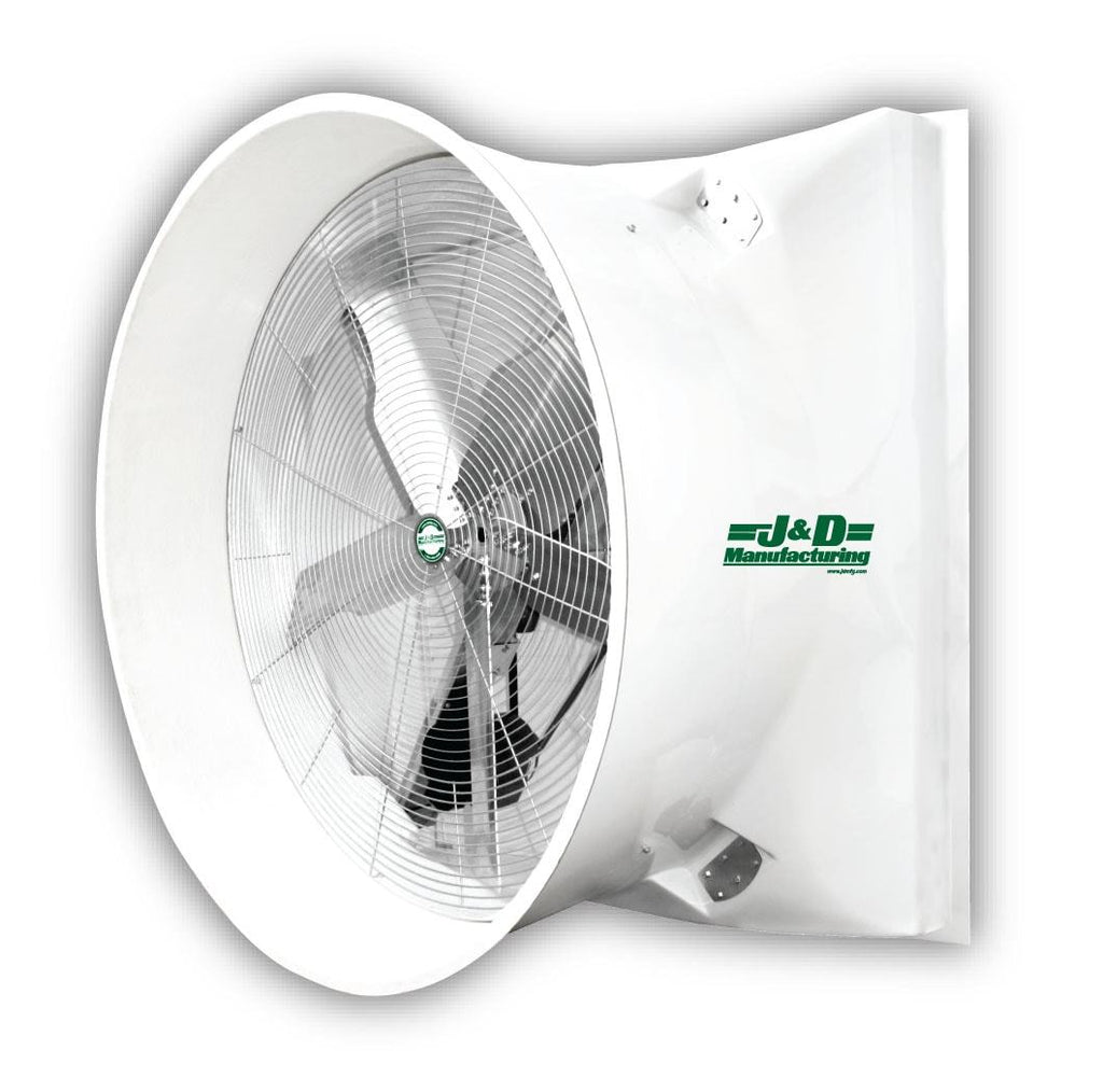 36 Inch Direct Drive Fans : Tornado fiberglass exhaust fan w poly shutters inch
