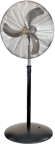 Airmaster Industrial Ultra-Quiet Oscillating Pedestal Fan 3 Speed 24 inch 5387 CFM (multi-pack discount) 20885