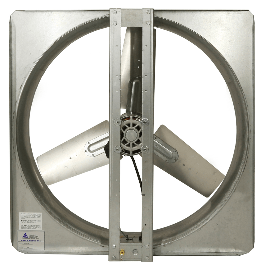 Triangle Whole House Fan 24 inch Up to 800 Sq. Ft. Direct Drive CA2421S, [product-type] - Industrial Fans Direct