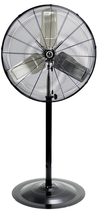 TPI Commercial Oscillating Pedestal Fan 3 Speed 24 inch 7500 CFM CACU24-PO