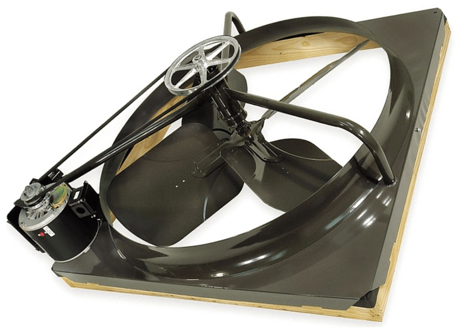 Triangle 2 Speed 42 Inch Whole House Fan 3200 Sq Ft Max Belt Drive C Industrial Fans Direct