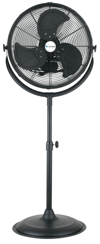 Commercial Pedestal Fan w/ Wheels 3 Speed 20 inch 6200 CFM CCUP20
