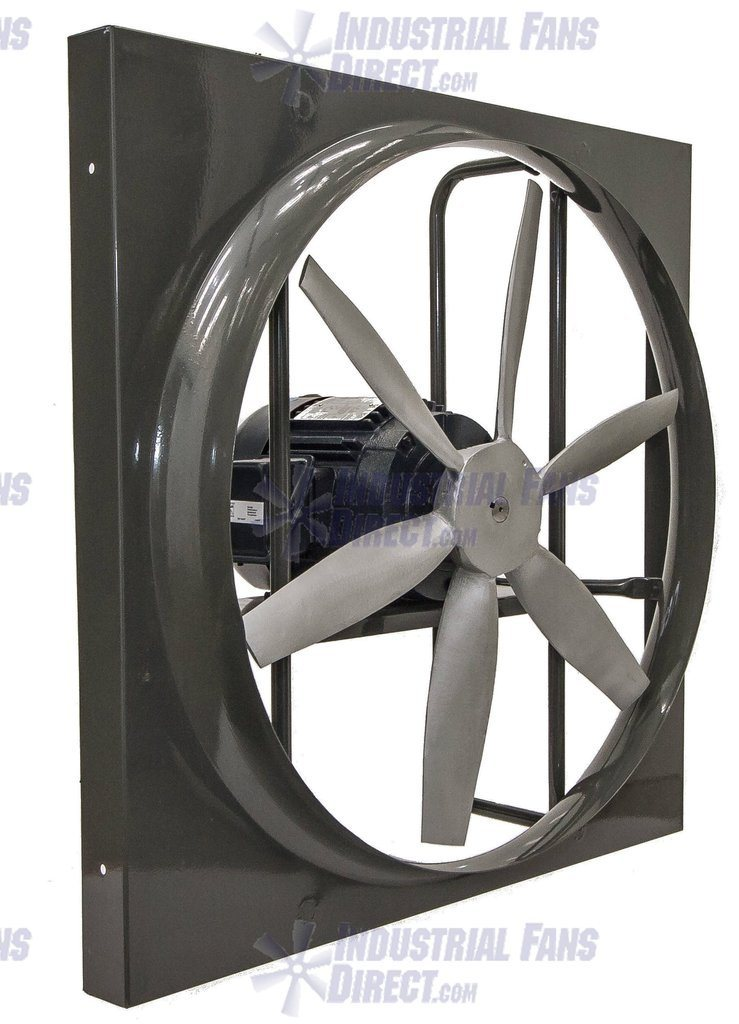 AirFlo-900 Panel Mount Exhaust Fan 36 inch 20500 CFM Inverter Duty Motor Direct Drive 3 Phase N936L-H-3-T