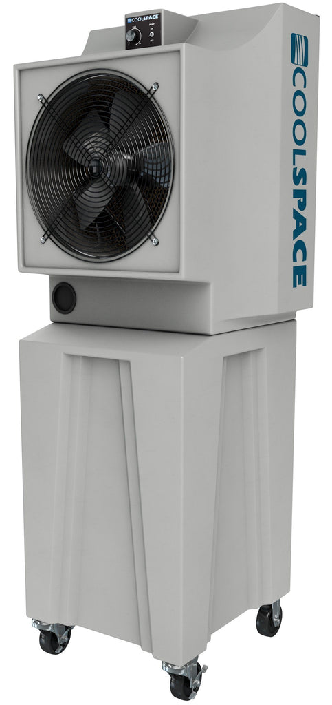 Cool-Space Glacier Tall Base Outdoor Rated Evaporative Cooler 2800 CFM Variable Speed CS5-18-VD-TB2