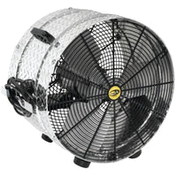 J & D Manufacturing 24 inch Diamond Brite Portable Drum Fan Direct Drive VI2412B1