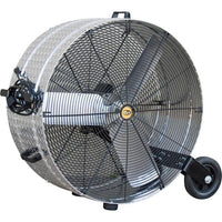 J & D Manufacturing 36 inch Diamond Brite Portable Drum Fan Direcct Drive VI3612WB