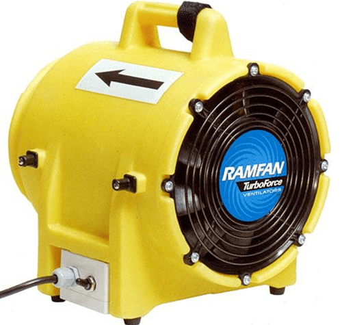High Performance Turbofan Confined Space Blower 8 inch 862 CFM ED9002