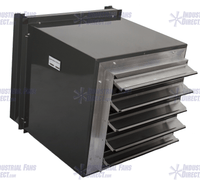 Explosion Proof Filtered Intake Fan 24 inch 6350 CFM Direct Drive 3 Phase NCFI24-E-3E