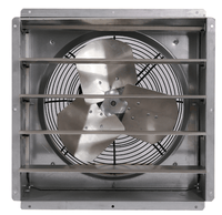 GPX Exhaust Fan w/ Shutters 1 Speed 12 inch 1580 CFM Direct Drive GPX1210, [product-type] - Industrial Fans Direct