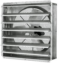 GPX Exhaust Fan w/ Shutters 1 Speed 24 inch 5460 CFM Direct Drive GPX2413, [product-type] - Industrial Fans Direct