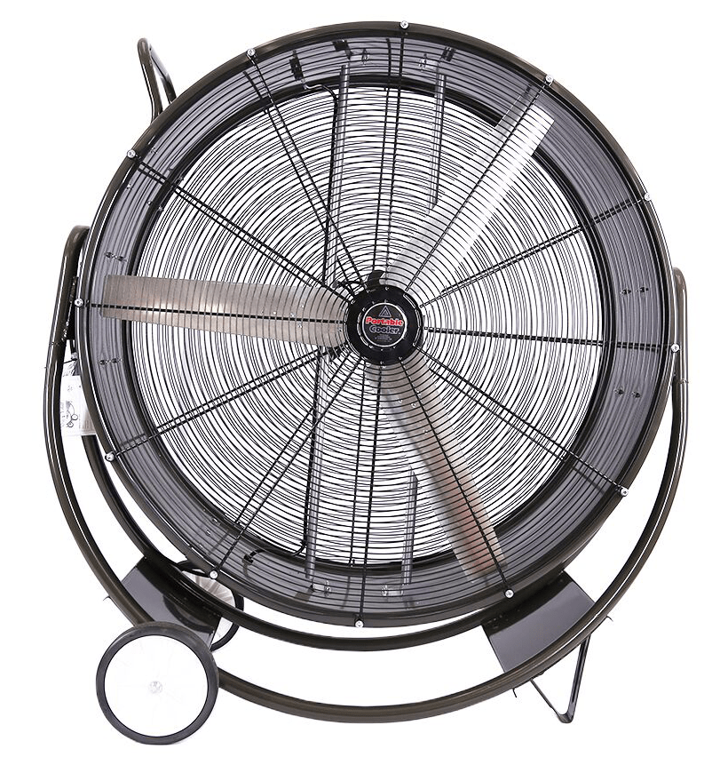 HBPC Portable Cooler Tilt Barrel Fan 1 Speed 36 inch 10900 CFM Direct Drive HBPC3613