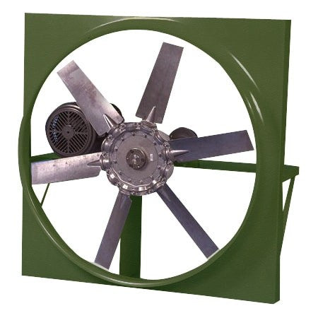HVA Panel Mount Exhaust Fan 48 inch 22430 CFM Belt Drive 3 Phase HVA48T30200M, [product-type] - Industrial Fans Direct