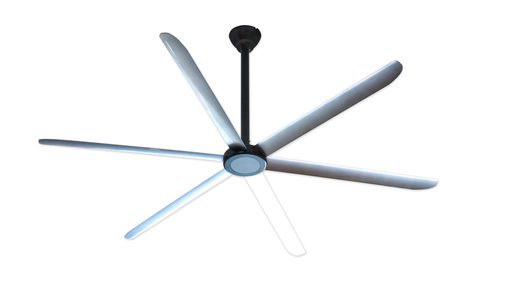 Big Air 9 foot Anodized Black HVLS Ceiling Fan w/ 6 Speed Remote 2700 Sq. Ft. Coverage HVLS108BLKA
