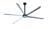 Big Air 9 foot Anodized Black HVLS Ceiling Fan w/ Remote 2700 Sq. Ft. Coverage HVLS108BLKA