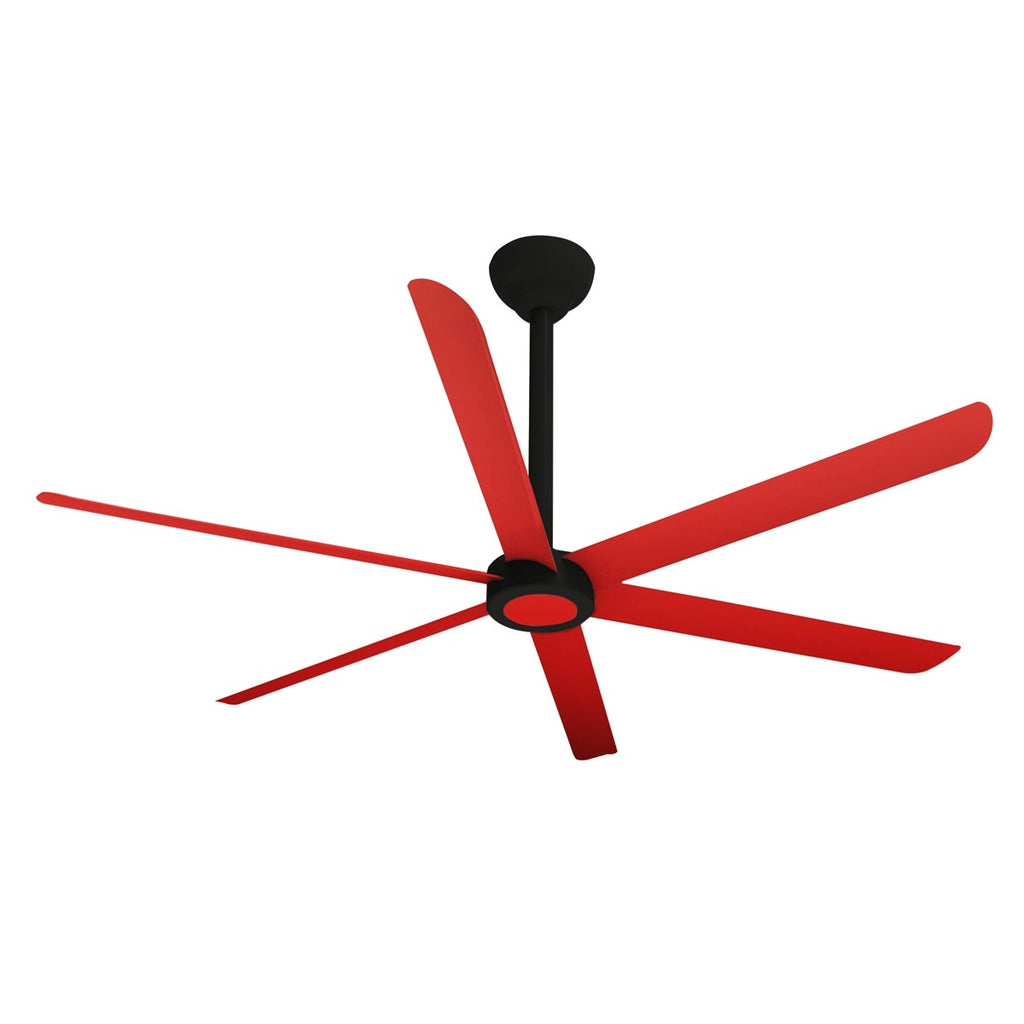 Big Air 9 foot Vibrant Red HVLS Ceiling Fan w/ Remote 2700 Sq. Ft. Coverage HVLS108BLKR