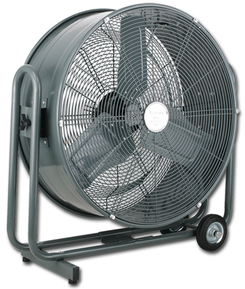"Explosion Proof Fan >> Canarm HVR24 | 24"" Tiltable 2 Speed Portable Drum Fan 7000 CFM – Industrial Fans Direct"