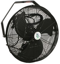 Black High Velocity Outdoor Rated Air Circulator Fan 18 inch 6357 CFM 3 Speed HVW-18MB