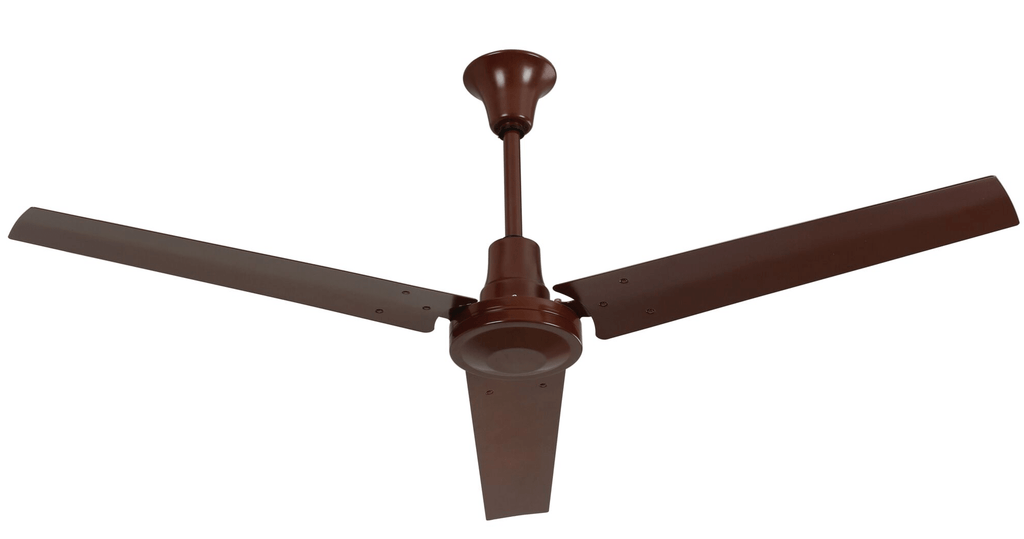 Industrial 60 inch Brown Moisture Resistant Reversible Ceiling Fan Variable Speed 46000 CFM INDB604LB