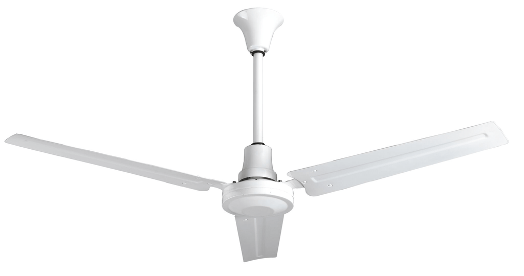 Industrial 56 Inch White Moisture Resistant Reversible Ceiling Fan Variable Speed 28000 CFM INDB56MR4LP