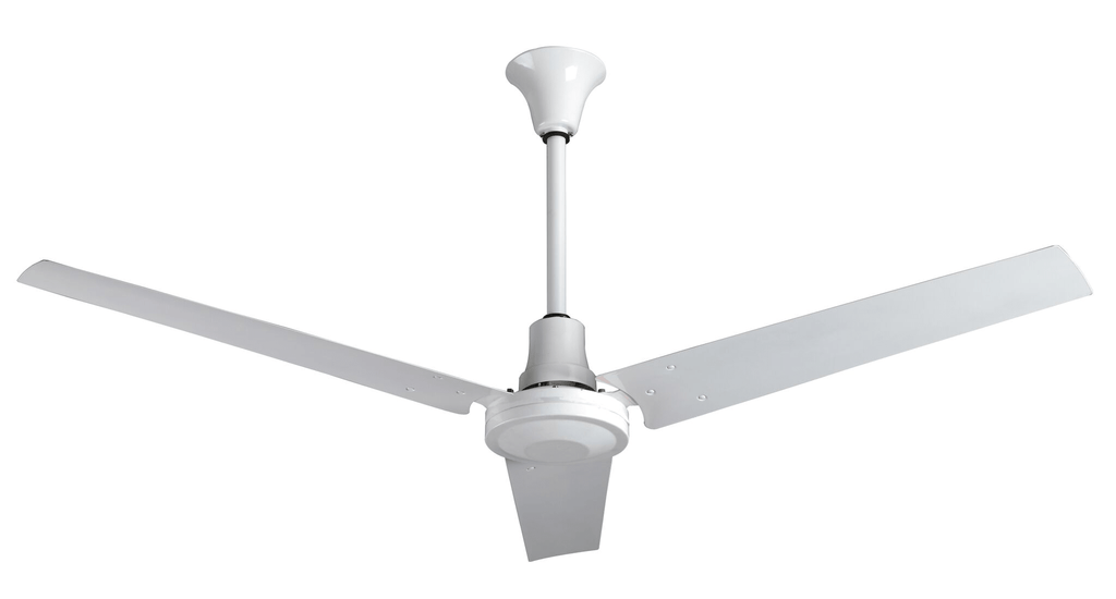Industrial 60 inch White Moisture Resistant Reversible Ceiling Fan Variable Speed 46000 CFM INDB60MR4LP